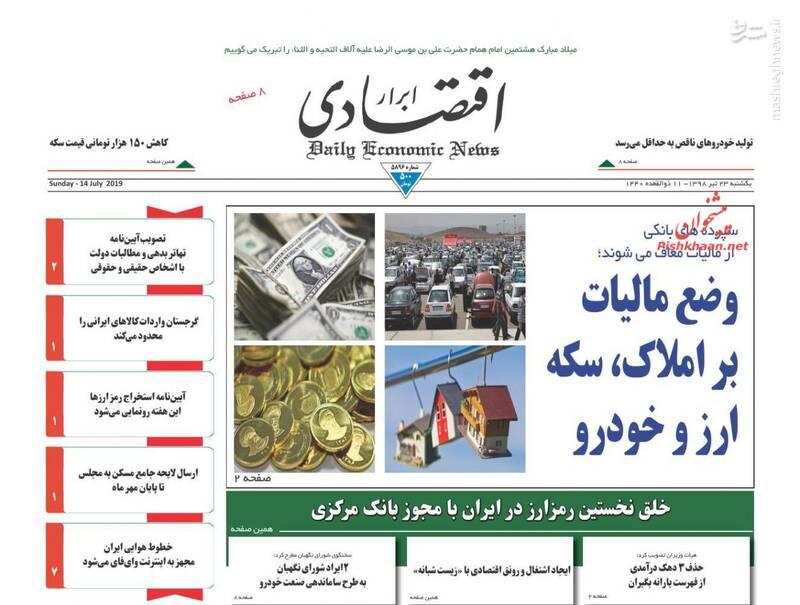 ابرار اقتصادی: وضع مالیات بر املاک، سکه ارز و خودرو