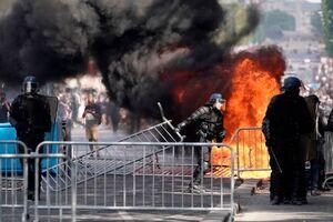 عکس/  ناآرامیها در روز استقلال فرانسه