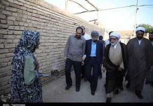 عکس/ حضور تولیت آستان قدس در روستای محروم گوجگی