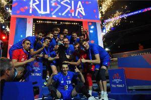 فیلم/ جشن قهرمانی روسیه در لیگ ملتهای والیبال