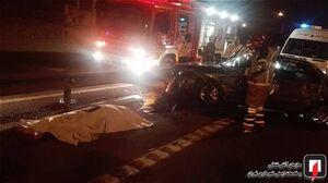 عکس/ تصادف مرگبار با گاردیل در جاده مخصوص