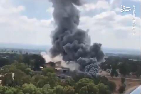 فیلم/ لحظه انفجار کارخانه تسلیحاتی صهیونیستها