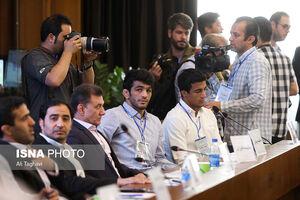 عکس/ حسن یزدانی در انتخابات کشتی
