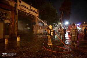 عکس/ آتشسوزی در میدان حسنآباد تهران
