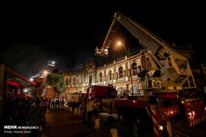 آخرین وضعیت ساختمان سوخته میدان حسن آباد