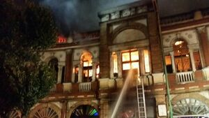 میزان خسارات آتش سوزی در میدان حسن آباد به بافت تاریخی