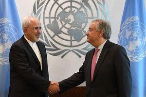 ظریف با دبیرکل سازمان ملل دیدار کرد