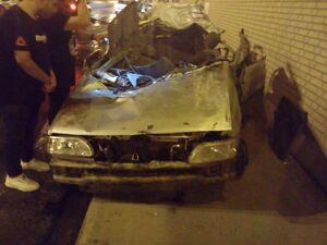 عکس/ تصادف خونین پرایدو پژو در آبادان