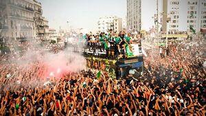 عکس/ استقبال تاریخی از تیم ملی الجزایر