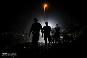 عکس/ عملیات شبانه بازداشت موادفروشان جاجرود