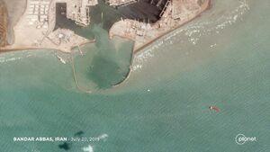 عکس ماهوارهای از نفتکش انگلیسی توقیفشده در بندرعباس