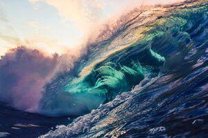 تصاویر خیره کننده از امواج خروشان دریا
