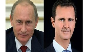 اسد: تمایل دولت سوریه برای تقویت روابط با روسیه/پوتین: مسکو به حمایت از حاکمیت دمشق ادامه میدهد