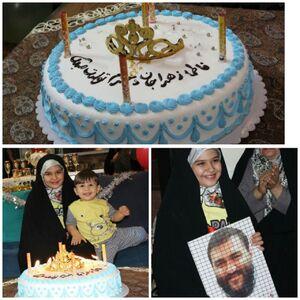 عکس/ جشن تولد دختر شهید مدافع وطن