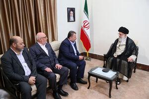 عکس/ دیدار نایب رئیس دفتر سیاسی حماس با رهبر انقلاب