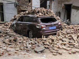عکس/ انفجار مرگبار کارخانه گاز در چین