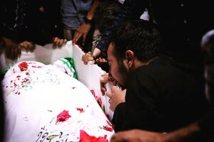 عکس/ وداع با شهید مدافع وطن در معراج شهدا