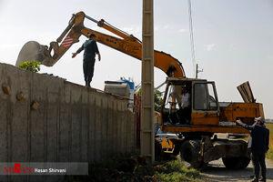 تخریب ساخت و سازهای غیرمجاز در رباط کریم