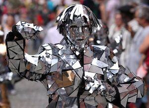 مجسمههای زنده در خیابانهای بلژیک