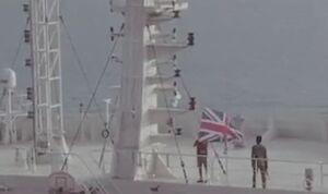 فیلم/ لحظه پایین کشیده شدن پرچم انگلیس