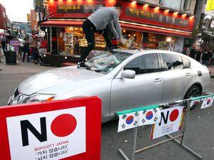 عکس/ شدت گرفتن تنش در روابط ژاپن و کره جنوبی