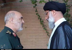عکس/ دیدار سرلشکر سلامی با نماینده ولی فقیه در خوزستان