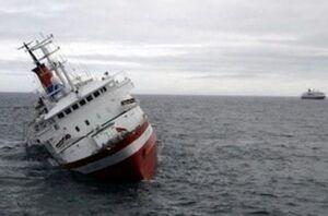اولین تصاویر از غرقشدن کشتی ایرانی شباهنگ