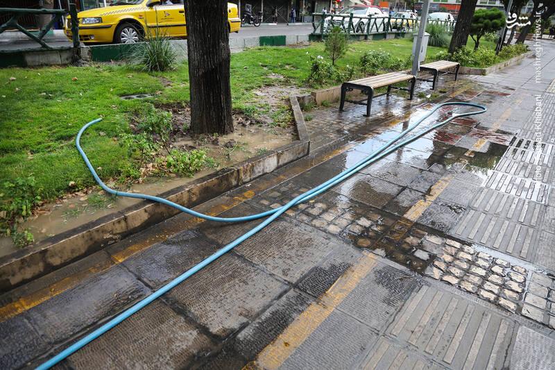 هدر رفت آب در سیستم آبیاری فضای سبز شهری