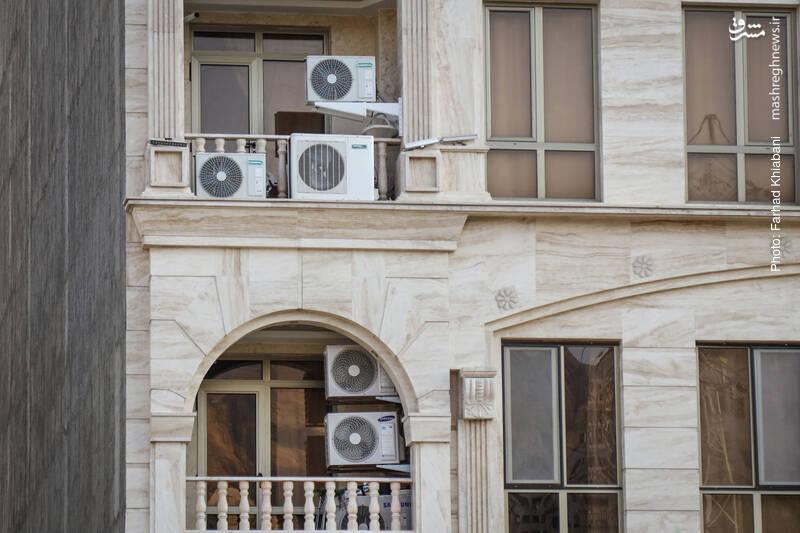 نصب بیش از حد کولرهای گازی در واحد های تجاری و مسکونی