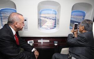 عکس/ بازدید هوایی ماهاتیر محمد از استانبول