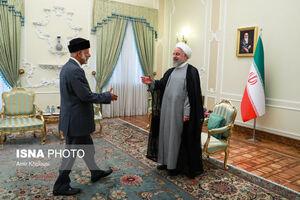 عکس/ دیدار وزیر امورخارجه عمان با رییس جمهور