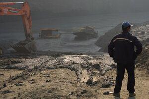 عکس/ رانش مرگبار زمین در یک معدن