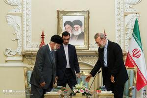 عکس/ دیدار وزیر امور خارجه عمان با لاریجانی