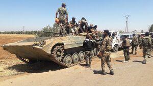 طوفان نیروهای ارتش سوریه در شمال استان حماه/ کمر تروریستها در شهرکهای «تل الملح و الجبین» شکست + نقشه میدانی و عکس