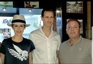 عکس/ رستورانگردی بشار اسد و همسرش در دمشق
