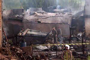 سقوط هواپیمای نظامی پاکستان