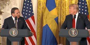 جواب محکم نخستوزیر سوئد به توییتهای تند ترامپ