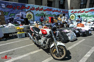 عکس/ توقیف موتور سنگین هوندا در تهران