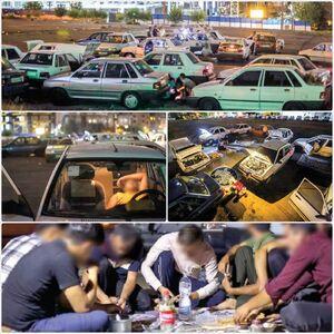 پدیده ماشین خوابی در تهران! +عکس