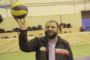 عکس/ امام جمعه والیبالیست
