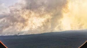 عکس/ آتش سوزی گسترده در جنگلهای سیبری