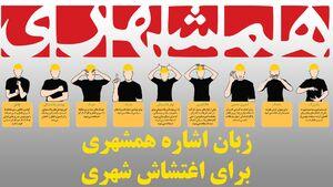 زبان اشاره همشهری برای اغتشاش شهری +فیلم