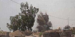 یک مجتمع دولتی در صعده یمن بمباران شد+عکس