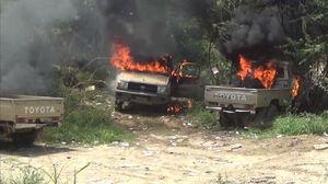 فیلم/ ۴۹ مزدور سعودی در خاک یمن کشته شدند