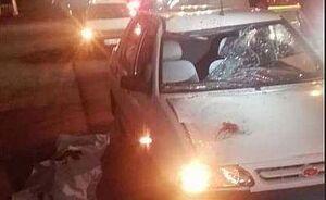 عکس/ برخورد مرگبار خودرو پراید با عابر پیاده