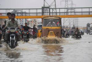عکس/ جاری شدن سیل در لاهور پاکستان