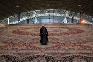 عکس/ رونمایی از بزرگترین فرش یکپارچه جهان در تبریز