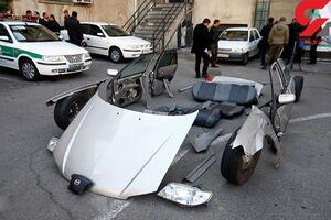 عکس/  کشف دو خودروی اوراق شده از سارقان