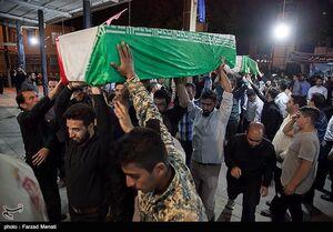 مراسم وداع با ۲۶ شهید تازه تفحص شده در کرمانشاه