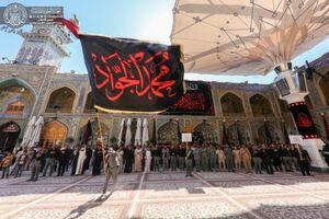 عکس/ عزاداری خادمان حرم علوی در روز شهادت امام جواد(ع)